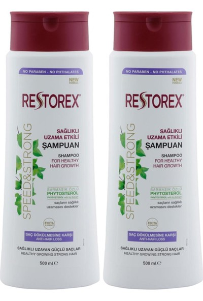 Restorex Sağlıklı Uzama Etkili Şampuan 500 ml x 2 Adet