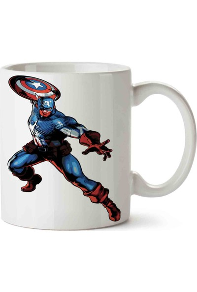 Art Hediye Captain America Masvel Capcom Kupa Bardak