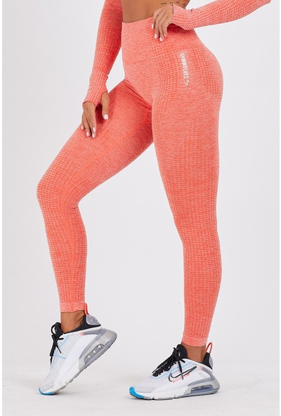 Gymwolves Dikişsiz Spor Tayt | Orange | Seamles Leggings | Activated Serisi