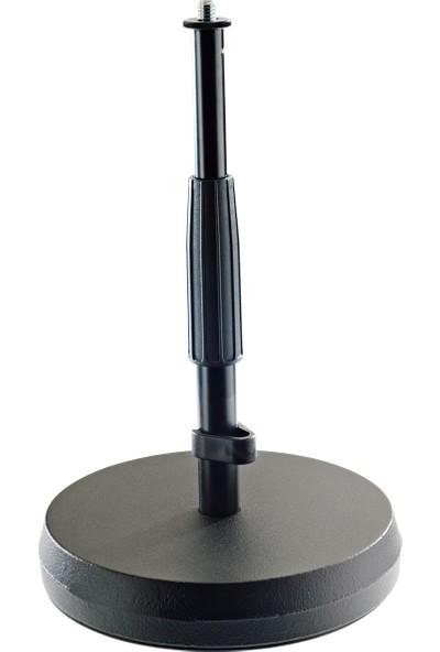 König & Meyer (K&m) - 23325-300-55 Masa ve Yer Tipi/üstü Mikrofon Standı/Ayaklığı/Sehpası - Siyah