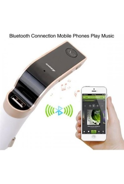 Car G7 Modeli Bluetooth Transmitter Araç Kiti USB Girişli Aux