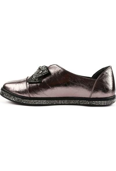 Dgn 1057 Kadın Kristal Taşlı Fiyonklu Günlük Ayakkabı 20Y