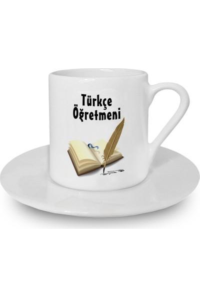 Flustore Türkçe Öğretmeni Meslek Hediyesi Türk Kahvesi Fincanı