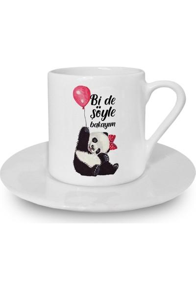 Flustore Panda Balon Bi De Söyle Bakayım Türk Kahvesi Fincanı