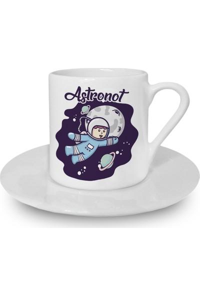 Flustore Astronot Türk Kahvesi Fincanı