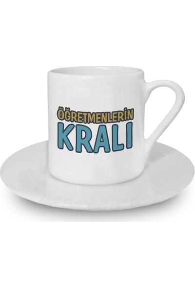 Flustore Öğretmenlerin Kralı Meslek Hediyesi Türk Kahvesi Fincanı