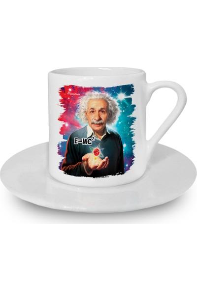 Flustore Einstein Emc2 Fizik Türk Kahvesi Fincanı