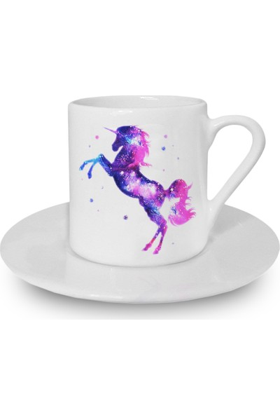 Flustore Uzay Unicorn Türk Kahvesi Fincanı