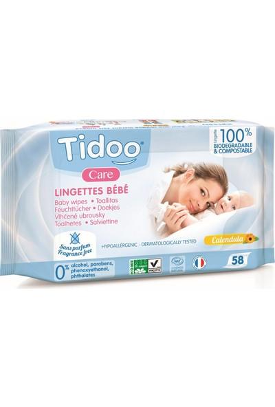 Tidoo Organik Islak Mendil Aynı Sefa Özlü Nemlendiricili 58'li