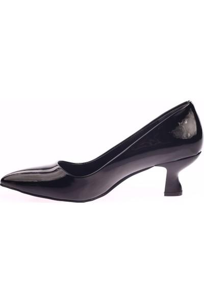 Dgn 230 Kadın Sivri Burun Parmak Dekolteli Kısa Topuklu Ayakkabı 20Y