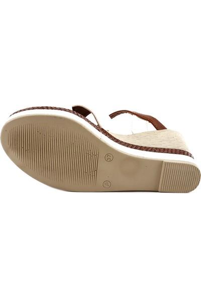 Dgn 325 Kadın Dolgu Taban Çapraz Bantlı Sandalet 20Y