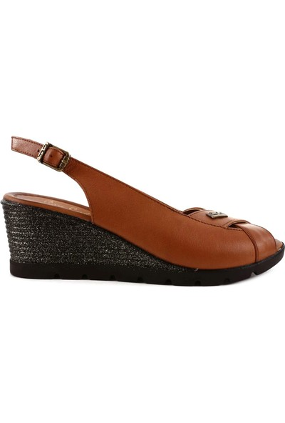 Pierre Cardin Pc-6034 Kadın Çapraz Yüz Dolgu Taban Slingbacks Sandalet 20Y