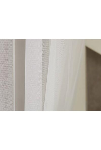 Massarelli Etamin Tül Ekru 1-2 Seyrek Pile 100 x 260 cm