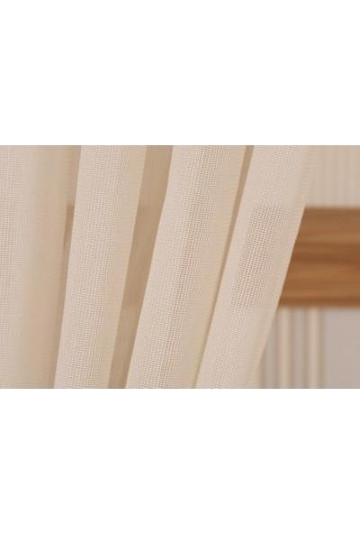 Massarelli Pamuk Dokulu Tül Bej 1-3 Sık Pile 100 x 260 cm