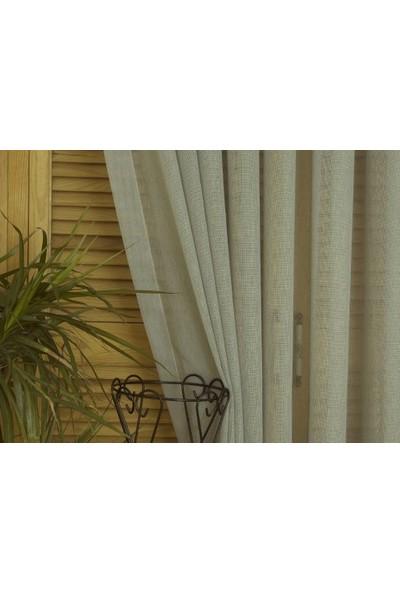 Massarelli Keten Tül Mavi 1-3 Sık Pile 100 x 260 cm