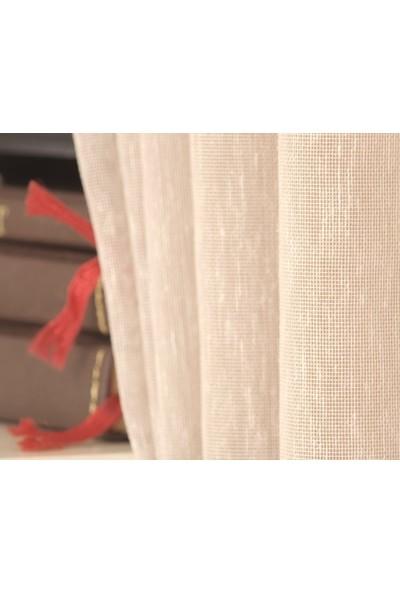 Massarelli Keten Tül Pudra 1-3 Sık Pile 100 x 260 cm