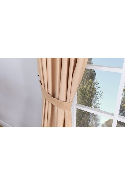 Massarelli Fon Perde Baharat Rengi 1-2 Seyrek Pile 60 x 260 cm