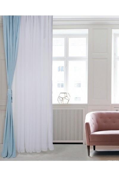 Massarelli Fon Perde Cam Göbeği Pilesiz 60 x 260 cm