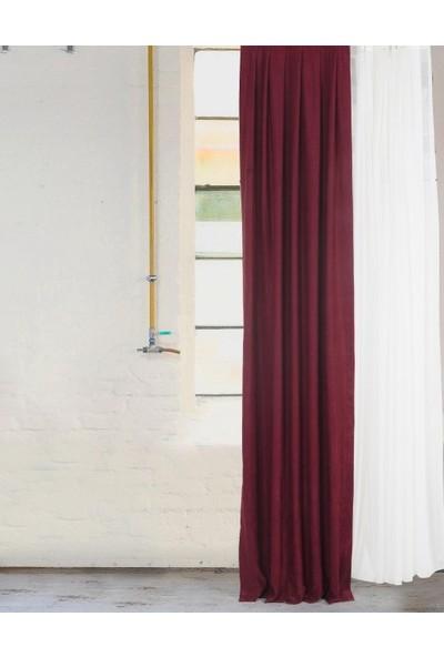 Massarelli Fon Perde Bordo Pilesiz 60 x 260 cm