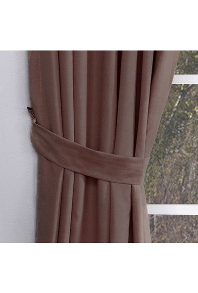 Massarelli Fon Perde Kahverengi 1-2 Seyrek Pile 60 x 260 cm