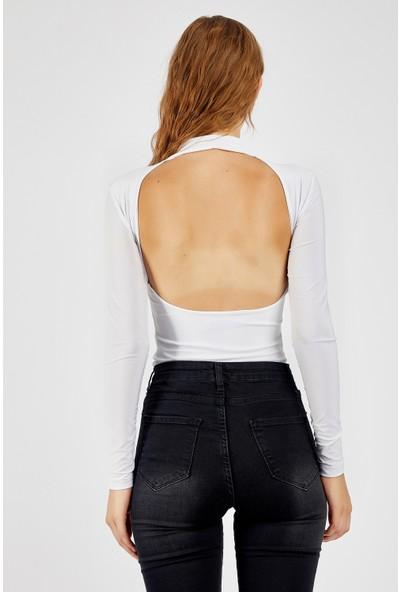 Manche Beyaz Kadın T-Shirt Mk21W265048