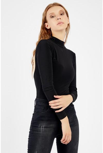Manche Siyah Kadın T-Shirt Mk21W265048