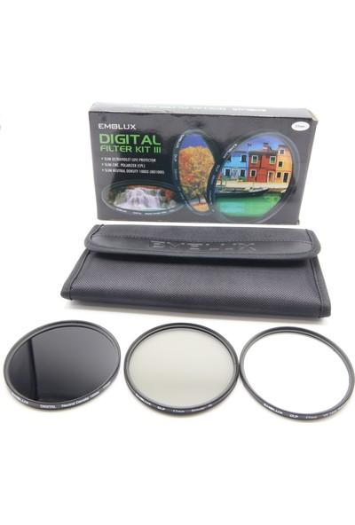 Emolux 77 mm 3'lü Filtre Seti