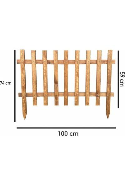 Weblonya Bahçe Çiti Büyük Boy Ahşap Çit 100 cm