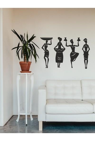 Unt Afrikalı Kadınlar Duvar Dekoru-Süsü, Lazer Kesim, Ahşap Dekoratif Tablo
