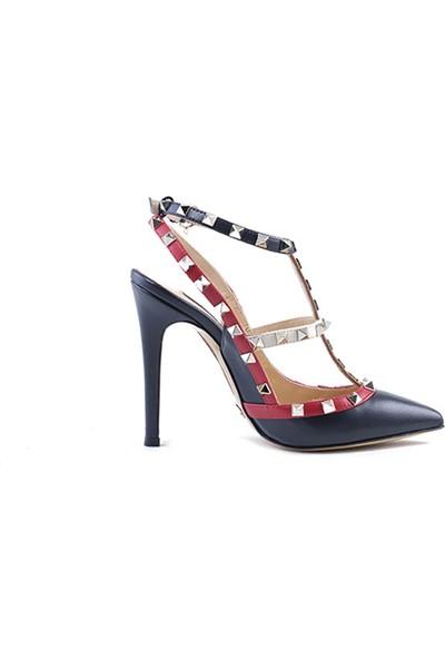 Rouge Deri Uzun Topuklu Kadın Gece&Abiye Ayakkabı 32236-R1