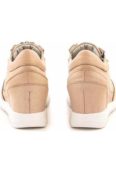 Rouge Deri Fermuarlı Kadın Günlük Ayakkabı 1663