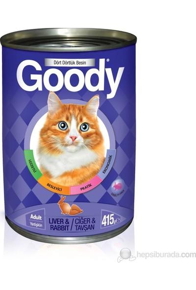 Goody Cigerli,Tavşanlı Konserve Kedi Maması 415 gr 24'lü