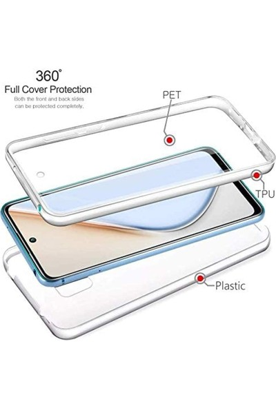 Teleplus Xiaomi Redmi Note 9 Pro Kılıf 360 Ön Arka Silikon Şeffaf