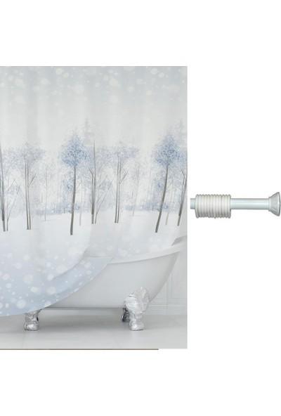 Prado Snow Banyo Duş Perdesi 180X200Cm Askı