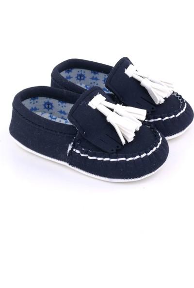 Funny Baby Deri Püsküllü Bebek Ayakkabı