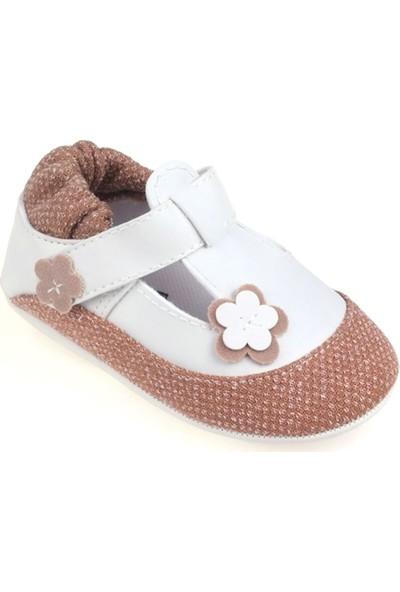 Funny Baby Çiçekli Cırtlı İlk Adım Ayakkabısı