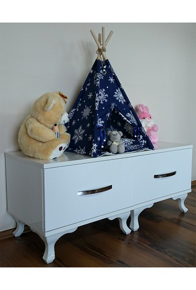 Altev Kartane Minyatür LED Aydınlatmalı Ahşap Abajur Çocuk Çadırı - Pilli Rüya Evi