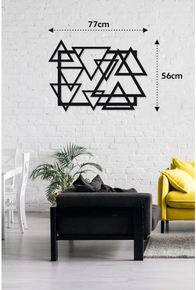 M&c Concept Triangle Metal Duvar Panosu Siyah