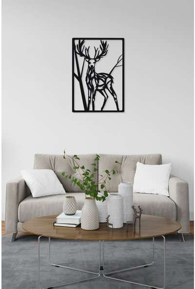 M&c Concept Deer Metal Duvar Panosu Siyah