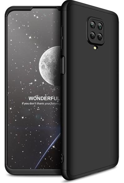 Teleplus Xiaomi Redmi Note 9 Pro Kılıf 360 Ays Sert Kapak Siyah