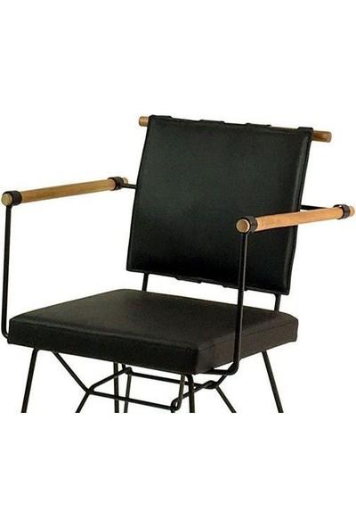 Indirimse Home Penyez Siyah Sandalye