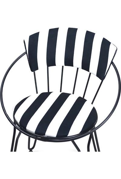 Modern Istanbul Sandalyesi Siyah Beyaz
