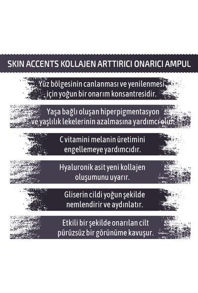 Skin Accents Kollajen Arttırıcı Onarıcı Ampul Energy C Complex Cilt Serumu 3 Adet Dermaroller Dermapen Serum