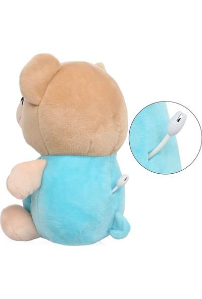 Yoyko Bear Dijital Bebek Telsizi 300m - Şarjlı - Isı Göstergesi - Interkom - LCD Ekran - Gece Işığı - Ninni (Mavi)