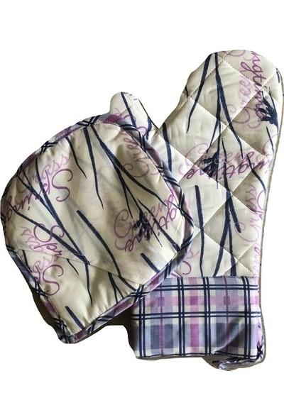 Ata Exclusive Fabrics Heatproof Isıya Dayanıklı Fırın Eldiveni (%100 Pamuk)