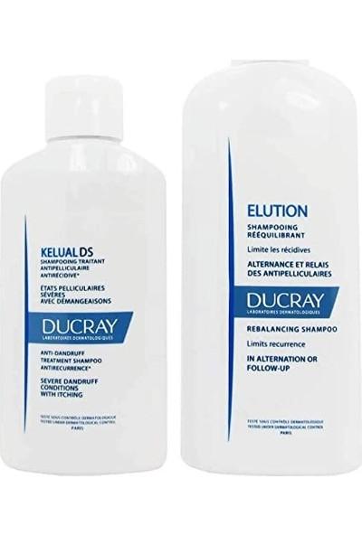 Ducray Kelual Ds Şampuan 100 ml + Ducray Elution Şampuan 200 ml