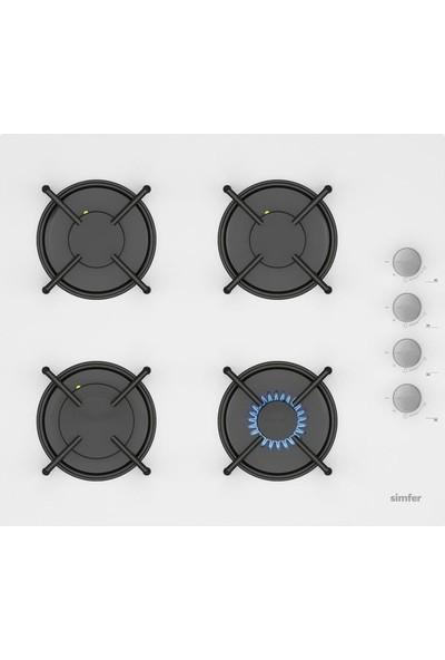 Simfer 6 Fonksiyon Beyaz Cam Ankastre Set (7340 Fırın + 3507 Ocak + 8668 Davlumbaz)