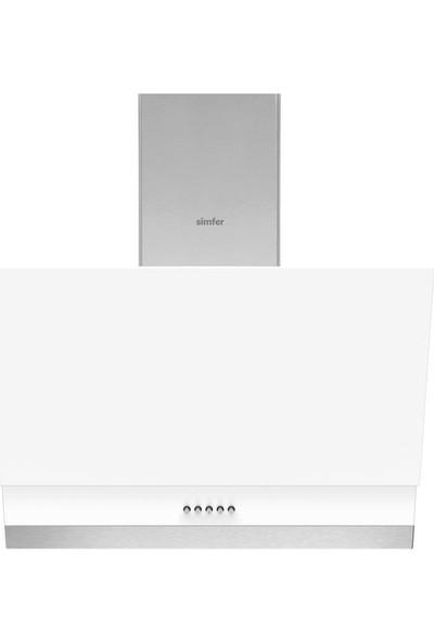 Simfer Ekonomik Beyaz Cam Ankastre Set (7339 Fırın + 3507 Ocak + 9604 Davlumbaz)