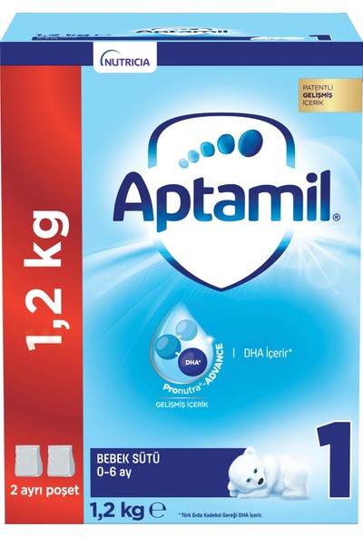 Aptamil 1 Bebek Sütü 1200 g 0-6 Ay