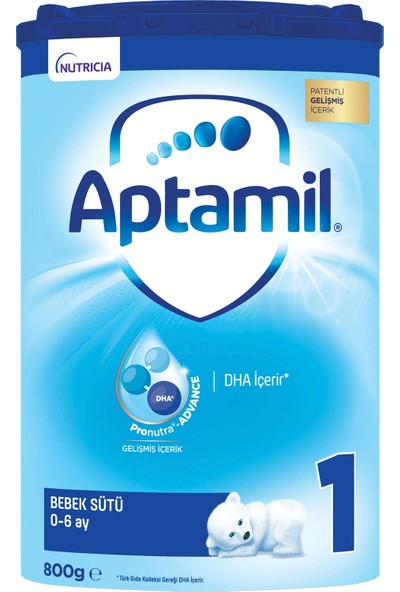Aptamil 1 Bebek Sütü 800 g 0-6 Ay Akıllı Kutu
